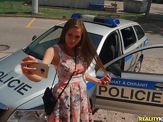 Perverted Policewoman Erik Everhard punishes prankish czech teen Stacy Cruz