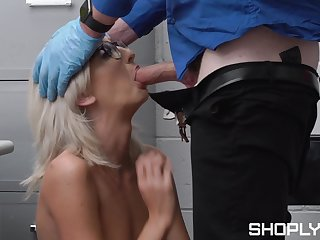Erotic exposed porn with a skinny shoplifter be advisable for being a bad girl