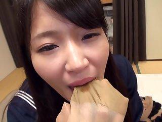 Mari Kagami - God Pantyhose Kaga Mimari Uniform Lolita Incomparable Raw Pantyhose Wrapped