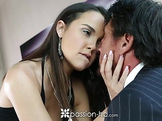 Old rich man fucks pretty young mistress Dillion Harper with the addition of ejaculates in her mouth