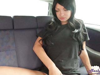 Booty Amateur Fingering Tight Pussy – Close-up close to  the Automobile