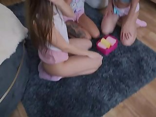 itsPOV: Filthy Step sisters argue for MFFF foursome fuck fest on PornHD