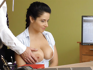 Humungous naturals dark-haired poke anal invasion be advantageous to loan approval
