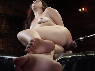 Dirty nightfall darkness enjoys uncultivated fucked by that sex machine