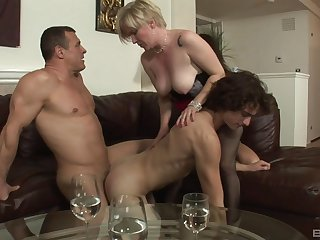 Needy action for a pair of bi-sexual lovers coupled with a of age