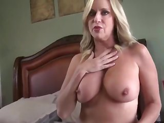 Amazing milf with hot body gets creampie from her stepson