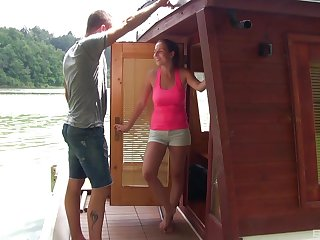 Antonia Sainz gets her pussy filled a friend's hard penis on the boat