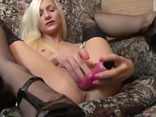 FF Stocking Schoolgirl need a Learning Break and her pink Di