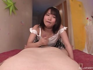 Japanese babe sure knows how helter-skelter provide good POV
