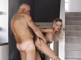 Hung daddy and old skinny granny Finally at home, for all