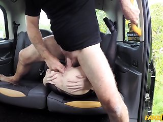 Naked wife gets the dick on the way home, and she loves it
