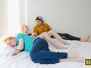 Not ergo faithful stepsister fucks her stepbro while her man is sleeping